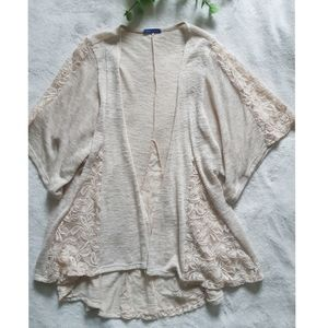 Beautiful lace panel cardigan
